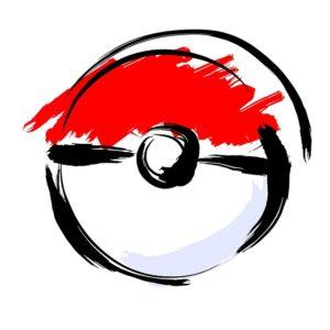 Artistic rendering of Pokemon ball
