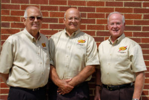 Re-elected to South Central Power's Board of Trustees were (from left): Richard Poling of Somerset, Alan Gabriel of Circleville and Harold Cooper of Waverly.