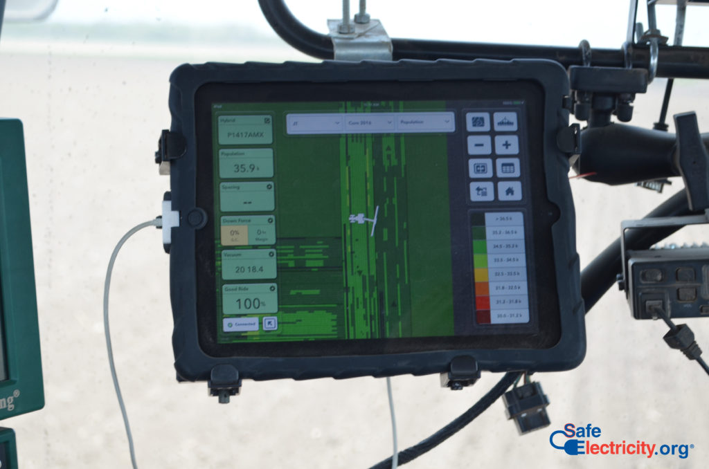 Picture of GPS unit for harvester