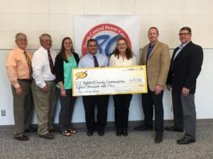 South Central Power awards Highland County Commissioners grant for Leesburg Industrial Park