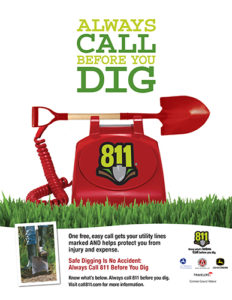 Dial 811 before you dig