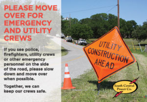 Move over for emergency and utility crews