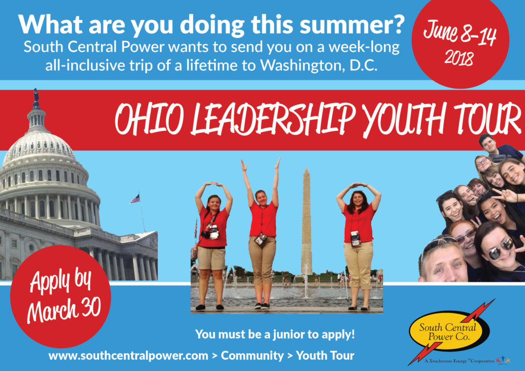 Youth Tour deadline is March 30, 2018.
