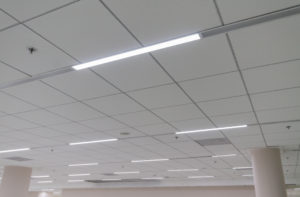 LED lighting on ceiling