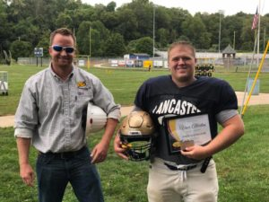 Congrats to Vince Albertini from Lancaster High School who was named South Central Power Lineman of the Week last Friday! He's presented his award by Tim Miller, a South Central Power line supervisor here in Lancaster.