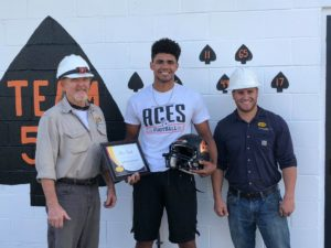 Congrats to Alex Smith from Amanda Clearcreek Local Schools who was named South Central Power Lineman of the Week last Friday! He's presented his award by Bill Gray (left) and Aaron Slatzer, South Central Power linemen.