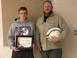 Congrats to Damion Fugate from Bloom-Carroll Local School District who was named South Central Power Lineman of the Week on Nov. 3! He's presented his award by Jeff Lykins, a South Central Power lineman in Lancaster.
