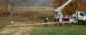 Setting a pole
