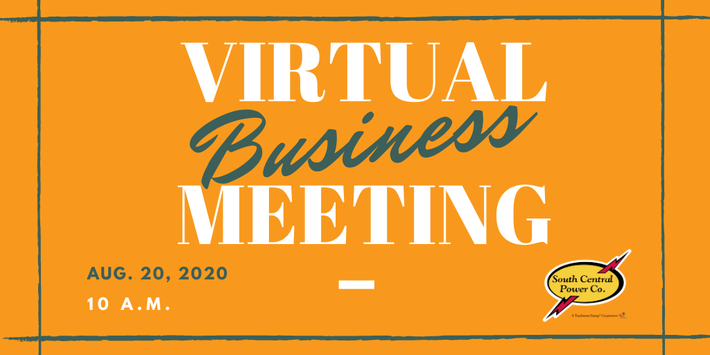 Virtual Business Meeting is Aug. 20