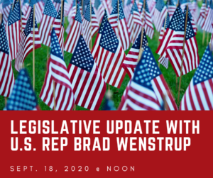 Legislative Update with U.S. Rep Brad Wenstrup, Sept. 18 @ noon