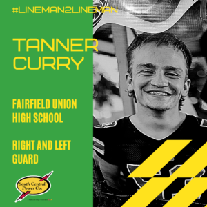 Tanner Curry, Fairfield Union High School, right and left guard, #lineman2lineman
