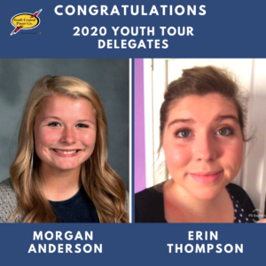 Morgan Anderson and Erin Thompson were selected as delegates from 2020.