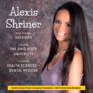 Alexis Shriner: High School: Sheridan College: The Ohio State University Studying: Health Sciences - Dental Hygiene