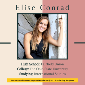 Elise Conrad: High School: Fairfield Union College: The Ohio State University Studying: International Studies