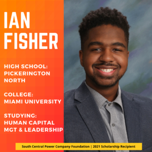 Ian Fisher: High School: Pickerington North College: Miami University Studying: Human Capital Mgt & Leadership