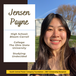 Jensen Payne: High School: Bloom-Carroll College: The Ohio State University Studying: Undecided
