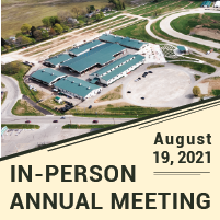 In-person annual meeting; Aug. 19, 2021